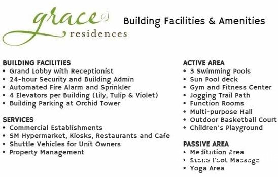 For Sale Units in Grace Residences